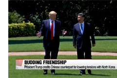 President Trump credits Chinese counterpart for lowering tensions with North Korea