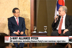 Presidential candidates draw line on 3-way candidacy alliance