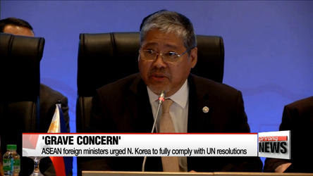 ASEAN foreign ministers express 'grave concern' over North Korea provocations