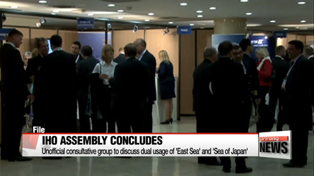 IHO Assembly to operate unofficial consultative group to discuss dual naming of East Sea and Sea of Japan