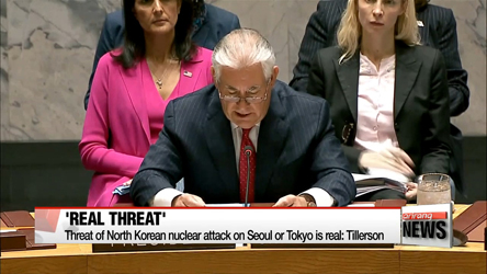 Threat of North Korean nuclear attack on Seoul or Tokyo is real: Tillerson