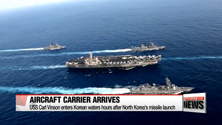 USS Carl Vinson enters Korean waters hours after North Korea's missile launch