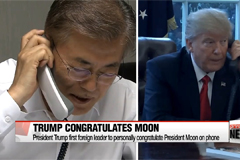 Trump congratulates Moon on election win, planning summit at White House soon