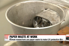 Korean researchers use paper waste to make UV protection film
