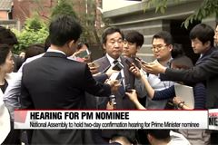 S. Korean prime minister nominee set for confirmation hearing