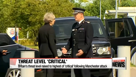 Britain's threat level raised to 'critical' following Manchester attack