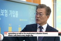 Employment situation board installed in President's primary office