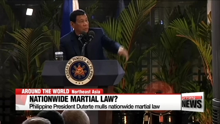 Philippine's Duterte eyes nationwide martial law
