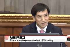 Bank of Korea keeps rate steady at 1.25% for May