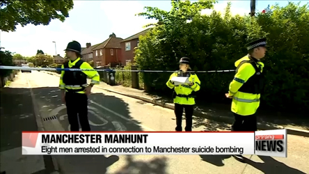 Eight men arrested in connection to Manchester suicide bombing