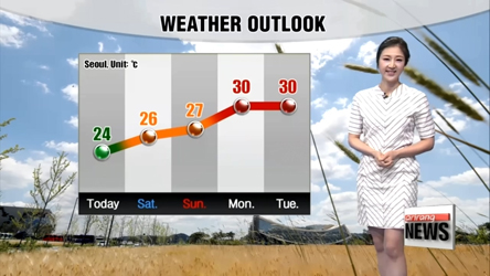 Nice breezy weather expects to warm up in the weekend