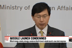 Seoul's foreign ministry strongly condemns North Korea's missile launch, vows stern response