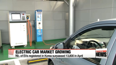 No. of EVs registered in Korea surpassed 13,800 in April