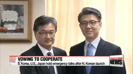 Representatives for N. Korea policies in S. Korea, U.S. and Japan vow to closely cooperate over the phone