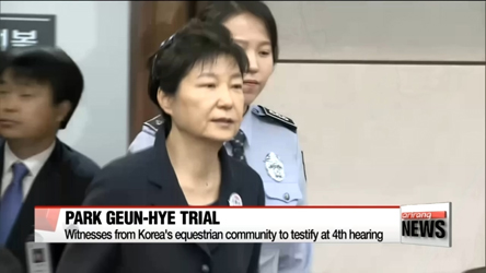 Park Geun-hye's fourth trial hearing focused on alleged Samsung payments