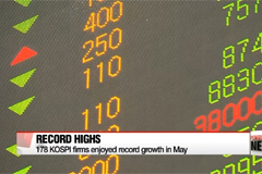 Number of KOSPI firms reaching record high earnings double in May