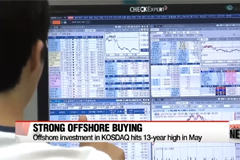 Offshore buying of KOSDAQ marks record-high in May in 13 years