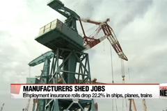 Employees drop by 22.2% in Korea's manufacturing sector for ships, planes, trains