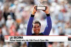 Nadal wins his 10th French Open