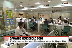 Korean monthly household debt marks this year's fastest rate of increase in May