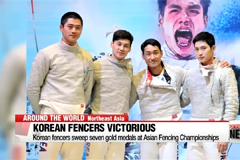 Korean fencers victorious at Asian Fencing Championships