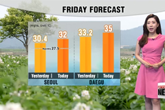 Heat wave grips most of Korea