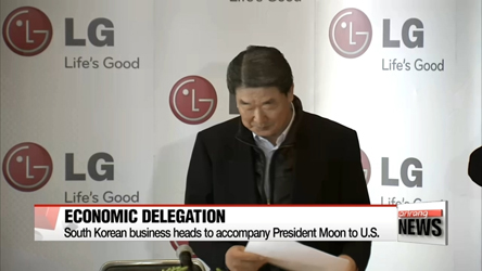 South Korean business heads to accompany President Moon to U.S.
