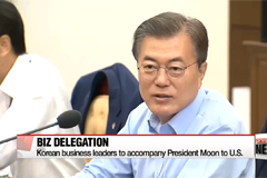 Korean business leaders to accompany President Moon to U.S.