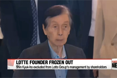Lotte Group founder Shin Kyuk-ho excluded from management by shareholders