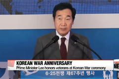 Prime Minister Lee honors veterans at Korean War ceremony