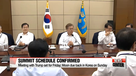 Cheong Wa Dae official confirms President Moon's schedule for Wahsington trip