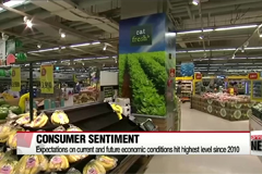 Korea's consumer sentiment hits more than 6 year high in June