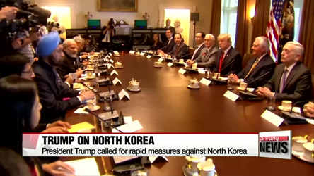 Trump calls for rapid measures against North Korea