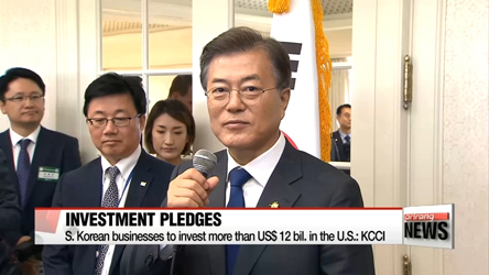South Korean business delegation pledge to invest in the U.S.