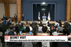 South Korea's national security chief visited U.S. in secret last month to discuss THAAD: sources
