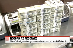 Korea's foreign exchange reserves hit record high