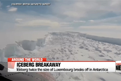 Iceberg twice the size of Luxembourg breaks off in Antarctica