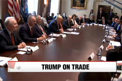 Trump says U.S. began renegotiating trade deal with S. Korea, trade with China needs to be ficed
