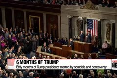 President Trump's term in office passes six-month mark