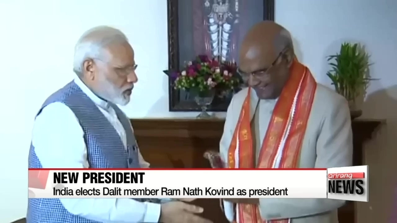 India elects 'untouchable' class member Ram Nath Kovind as president