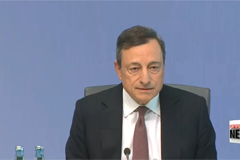 European Central Bank holds rates steady, but hints at possible stimulus easing in fall