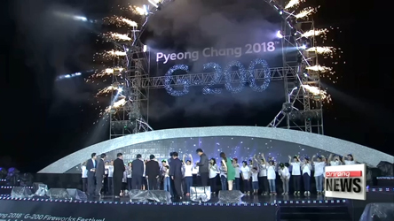 PyeongChang 2018 G-200 Fireworks Festival held on Saturday to wis...