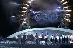 PyeongChang 2018 G-200 Fireworks Festival held on Saturday to wish for successful Winter Olympics