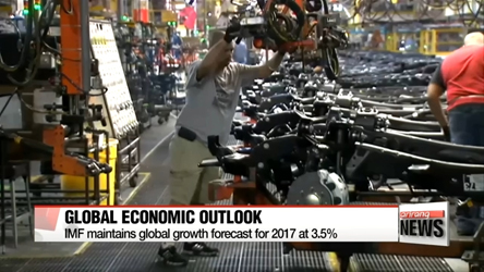 IMF maintains global economic growth forecast for 2017 at 3.5%