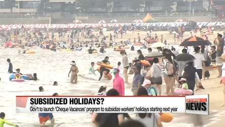 Government to fund workers' holidays? Launch of 'Cheque Vacances'