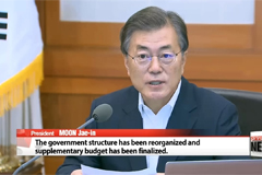 "President Moon declares ""complete paradigm shift"" in S. Korean economy under new Cabinet"