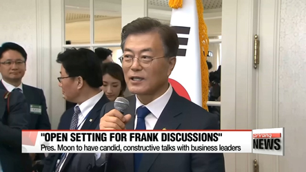 South Korean President Moon to discuss economic direction with business tycoons over beer at the Blue House
