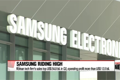 Samsung Electronics sales for Q2 reach over US $ 54.8 bil.