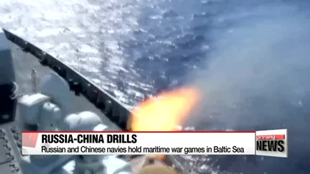 Russia and China hold join maritime drills in Baltic Sea