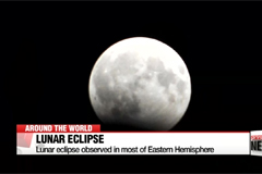 Lunar eclipse observed in Central Asia, parts of Europe
